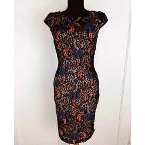 Modcloth Mystic Lace Overlay Wiggle Bodycon Dress